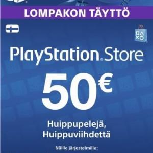 PS4: Playstation Network Card (PSN) 50 EUR (Suomi)