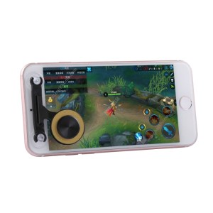 Mobiili: Q9 Direct Mobile Games Joystick Artifact Hand Travel Button Sucker for iPhone, Android Phone, Tablet(Gold)