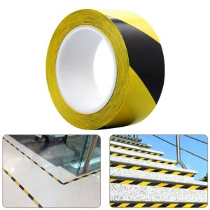 45mm PVC Warning Tape Self Adhesive Hazard Safety Sticker, Length: 33m