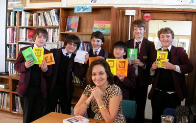 Meeting the boys of Simon Langton Grammar, Canterbury