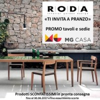 RODA great promotion on high-end outdoor dining furniture ...