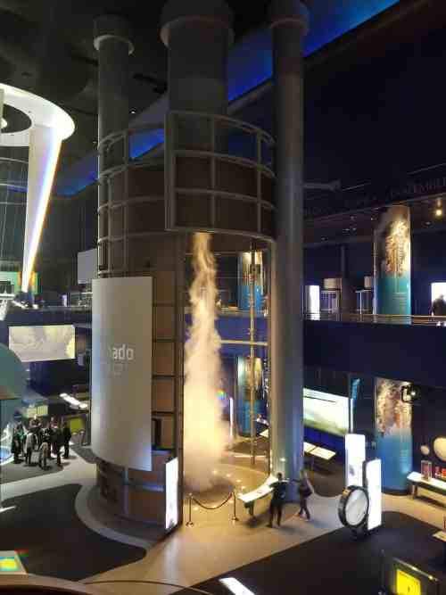 Tornado Simulator Exhibit