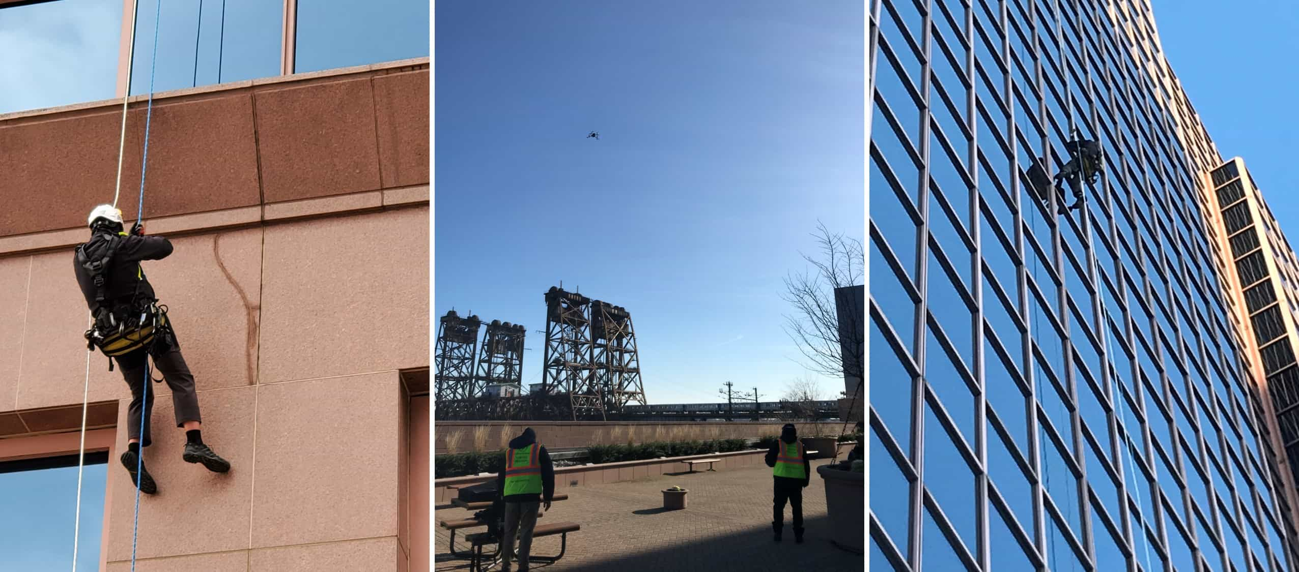 Facade Inspections from land, sky and ropes