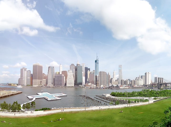 A big plus: pool floated for New York's East River