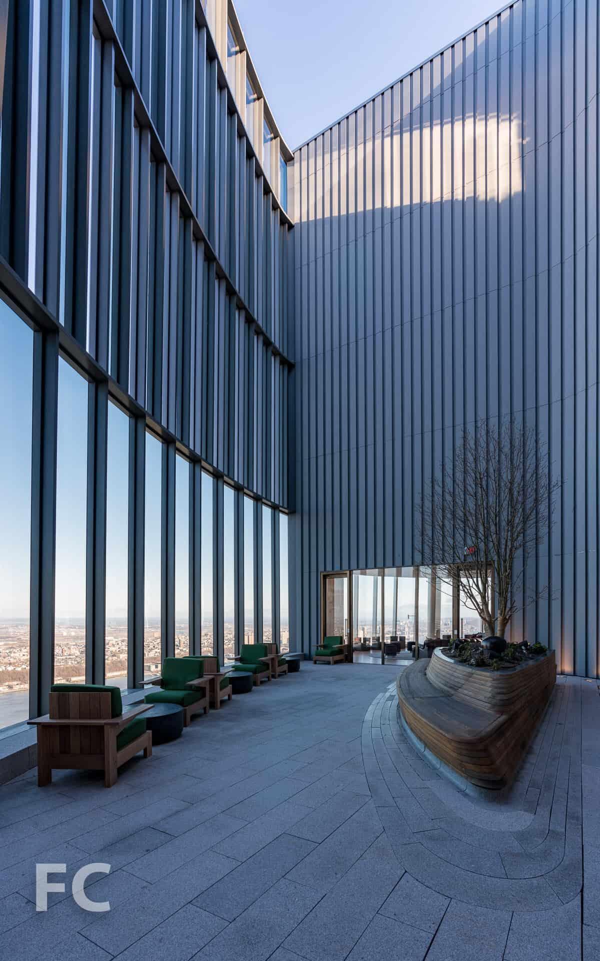 15 Hudson Yards Skytop's Custom Corrugated Composite Metal Panels