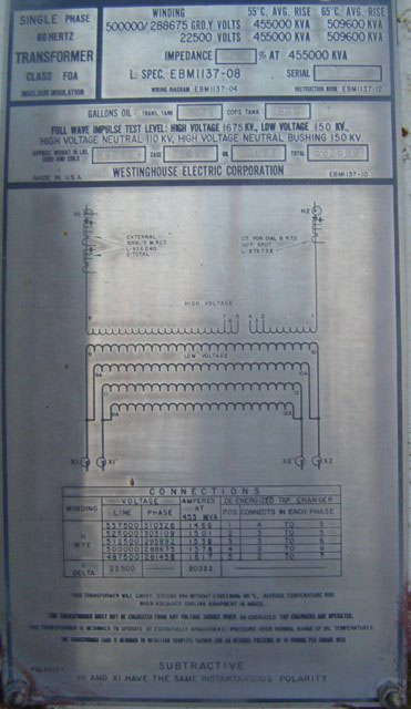 York Ac Wiring Diagram 500 Kva Substation Transformer 500000 Volts From Nuclear Plant
