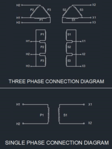 3 Phase To Single Phase Transformer Wiring Diagram