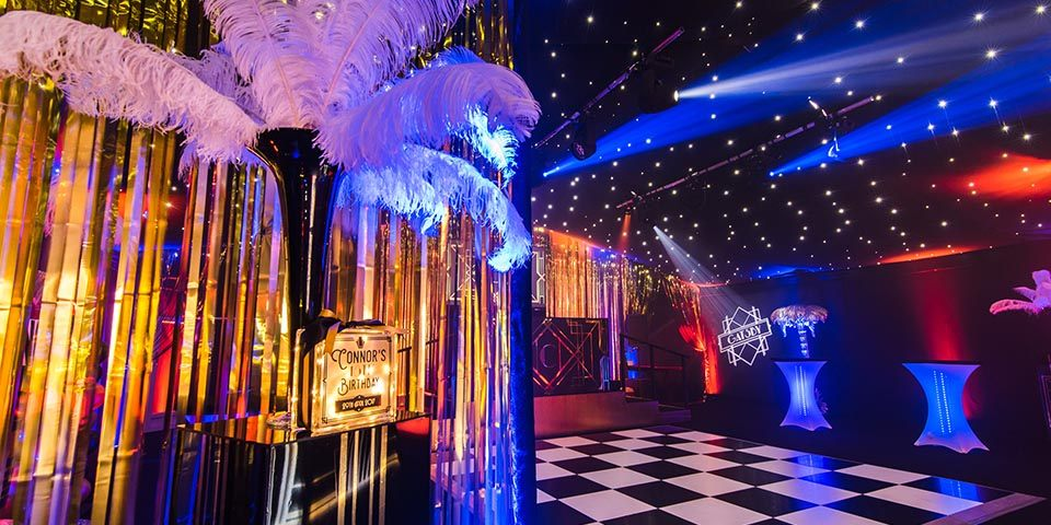18th Gatsby Marquee party planner decoration