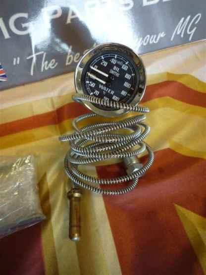 Température de l'horloge double (grC) et pression d'huile