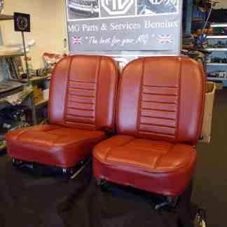 Exemple Définir chaises en cuir rouge 69-style