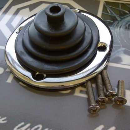 Versnellingspook rubber, chromen ring en schroeven 4 synchro