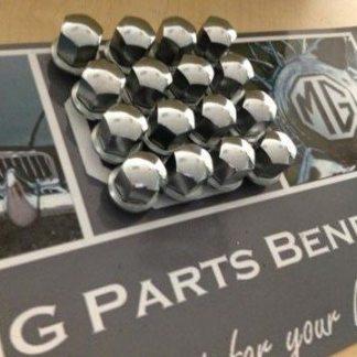 V8 wheelnuts nieuw en origineel chroom