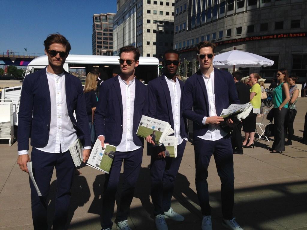 Mr Porter team @Canary Wharf