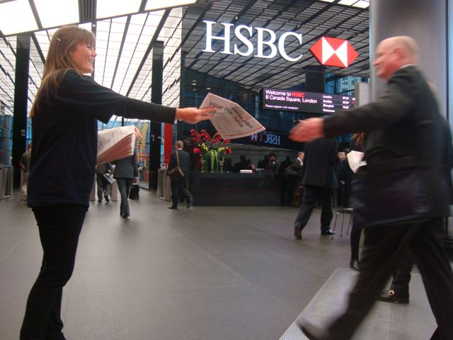 HSBC Telegraph wrap promotion