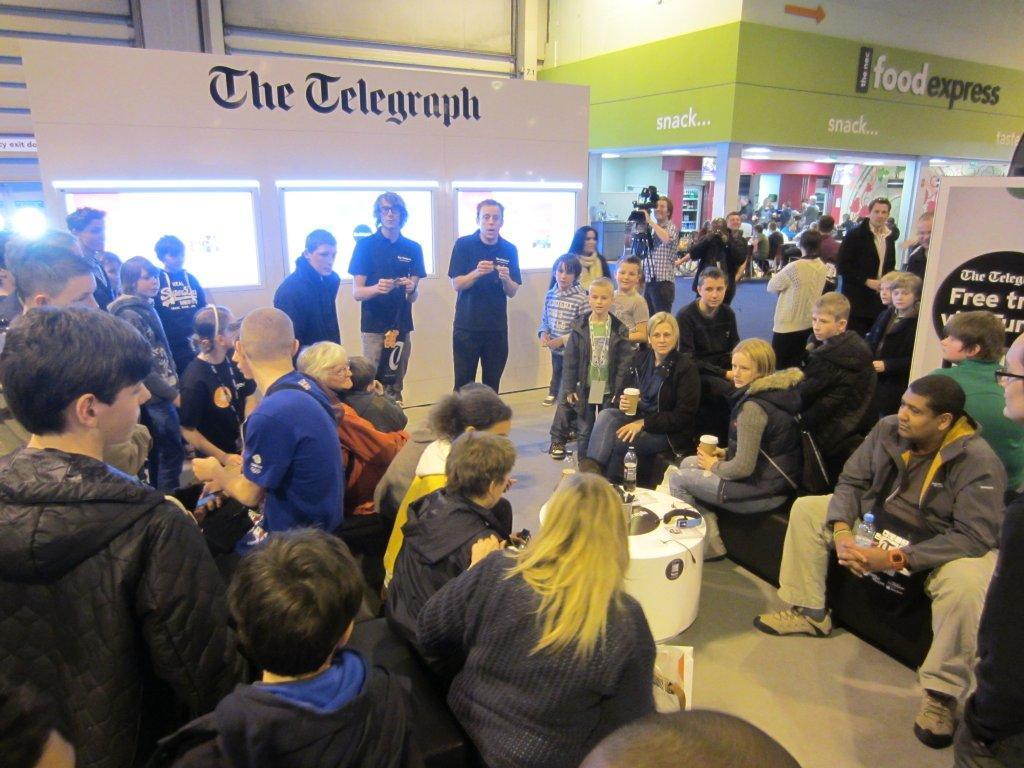 The Telegraph stand @ The Gadget Show NEC,Birmingham