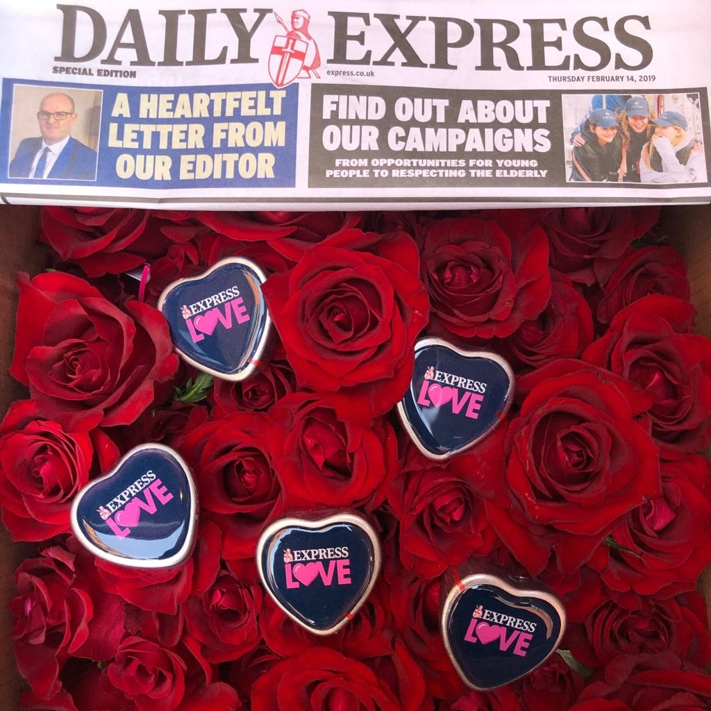 Daily Express promotion Valentines Day 2019