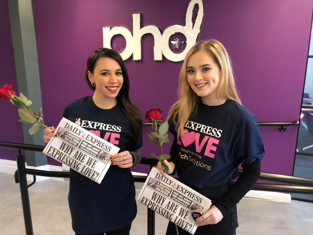 Daily Express agency promotion Valentines Day 2019