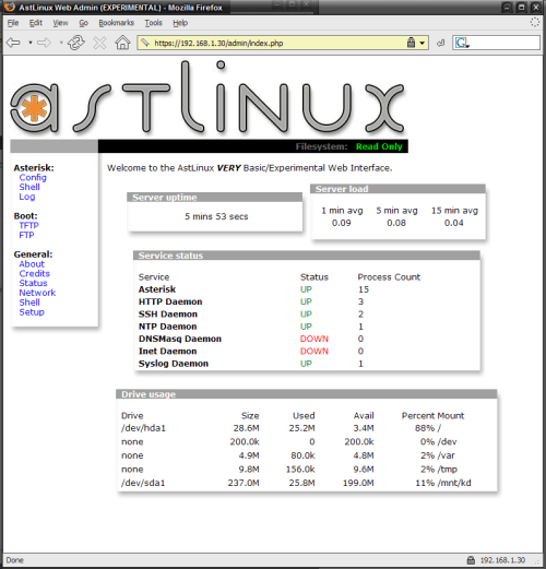 Figure 7: Server Status