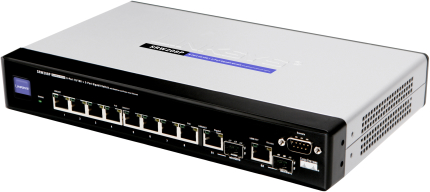 A small Linksys switch capable of POE