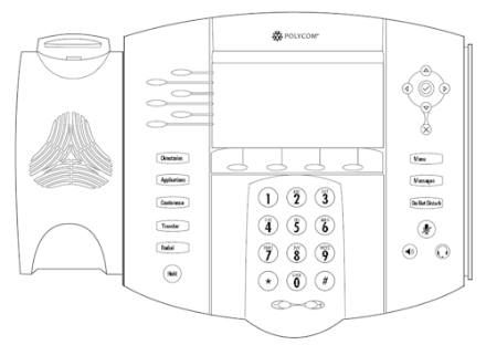 Polycom SoundPoint IP650 front view illustration