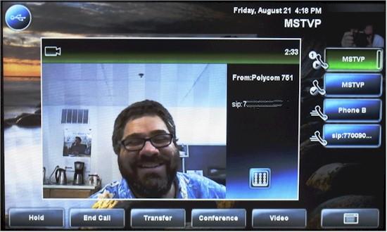 Video call in progress