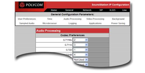 SoundStation IP 5000 MENU SAMPLE