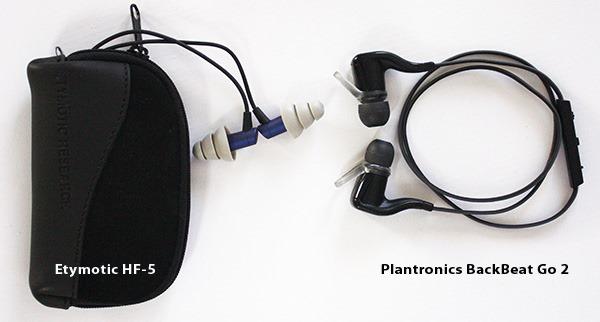 Etymotic HF5 & Plantronics Backbeat Go 2