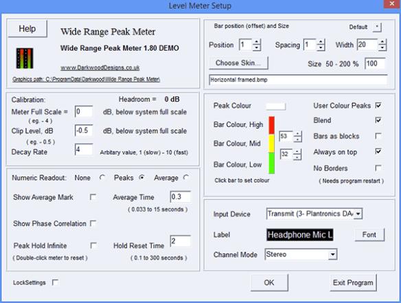 Wide Range Audio Meters | Graves On SOHO Technology