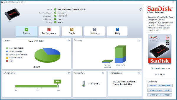 SandDiskDrive Utility