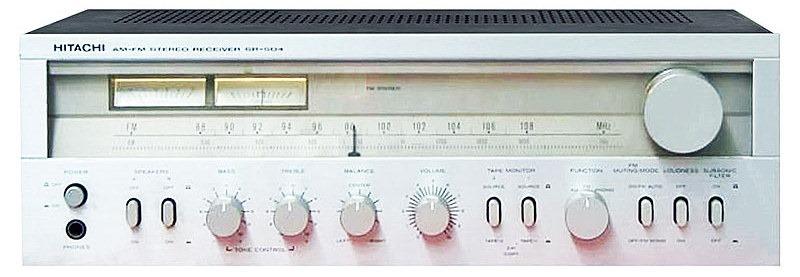 hitachi stereo receiver SR504