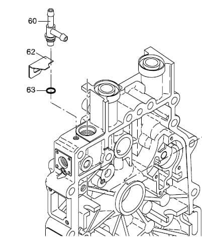 HATZ 1B20 1B30 1B40 docisk trójnika 05183100 MGS-Technics
