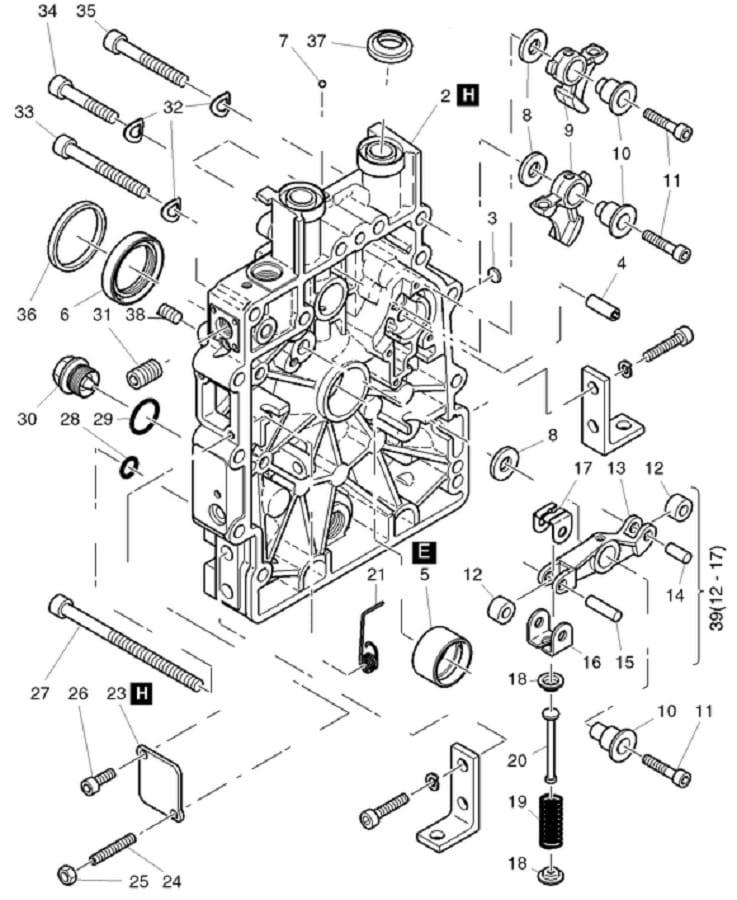 HATZ 1B20 1B30 simmering wału 40033701 MGS-Technics