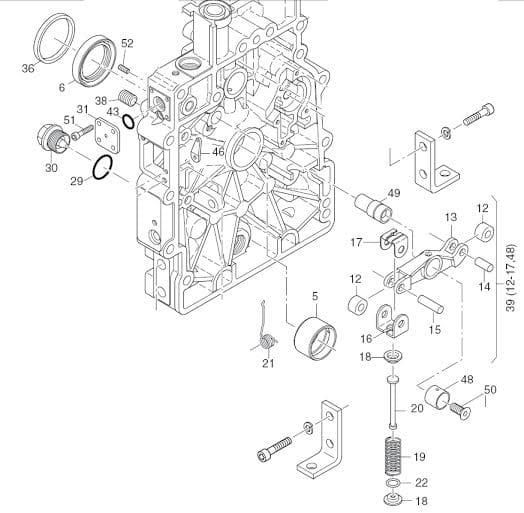 HATZ 1B20 1B30 dźwignia pompy wtryskowej 01319620 MGS