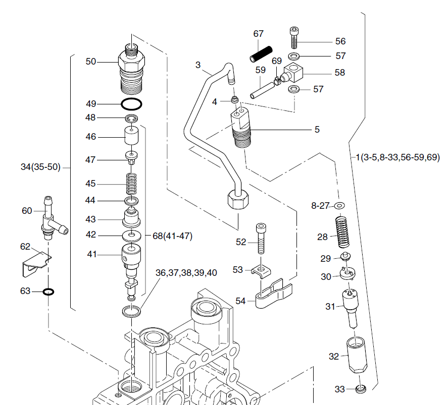 HATZ 1B20 1B30 docisk wtrysku 05056700 MGS-Technics