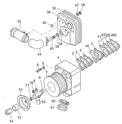 HATZ 1D60 1D81 1D90 filtr powietrza 01493000 MGS-Technics