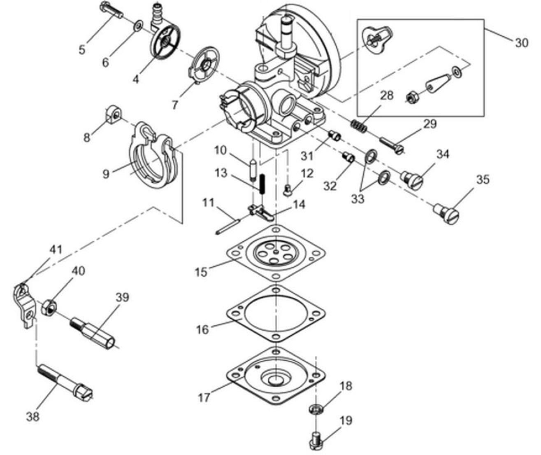 Wacker Regulacja Linki Gazu Bing 33 Mgs Technics