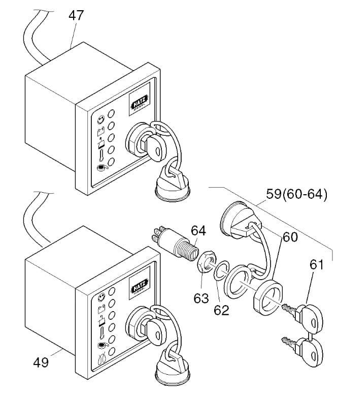 HATZ 1B20 1B30 1B40 1B50 stacyjka 50599501 MGS-Technics