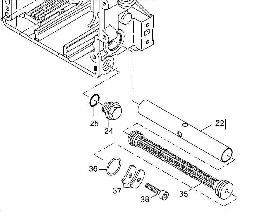 HATZ seria 1B filtr oleju 01542705 MGS-Technics