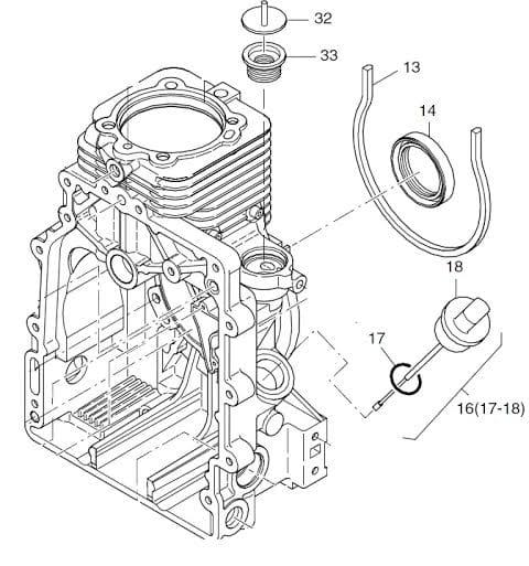 HATZ 1B20 1B30 bagnet oleju 01316000 MGS-Technics