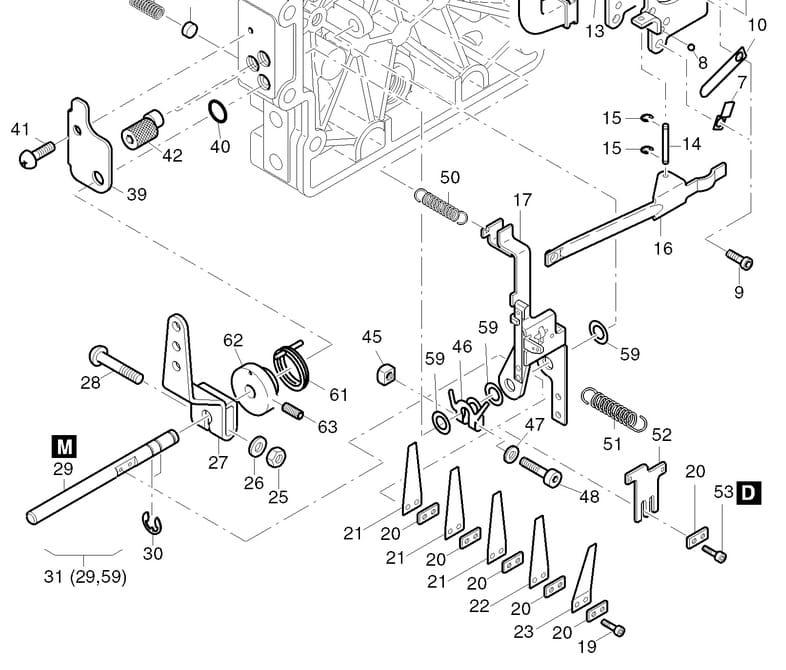 HATZ 1B20 1B30 sprężyna regulator obrotów 05130910 MGS