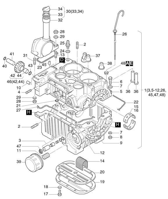 HATZ 2G30 2G40 uszczelka bloku silnika 50301200 MGS