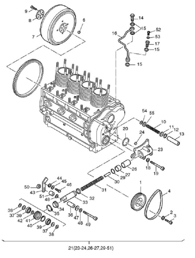 HATZ seria L i M śruba olejowa napinacza 03724800 MGS