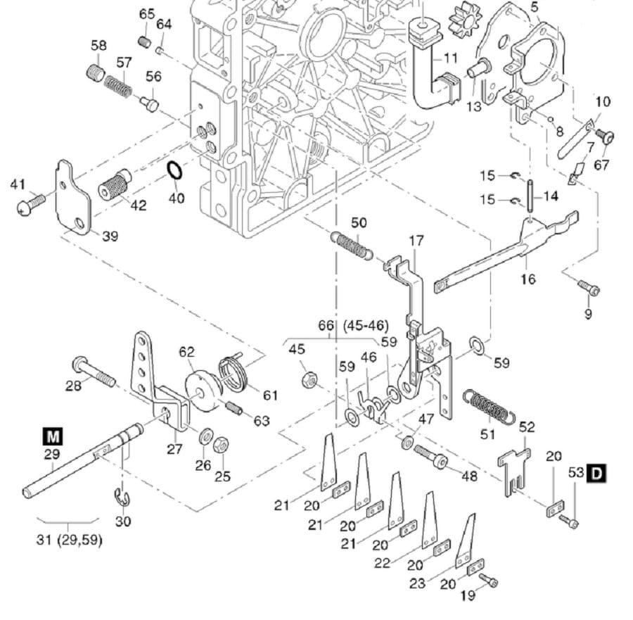 HATZ 1B20 1B30 sprężyna regulatora obrotów 50563400 MGS