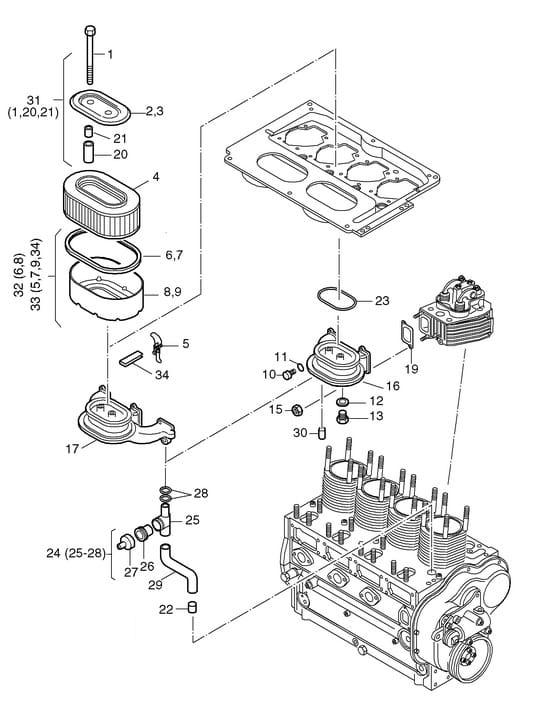HATZ seria L i M odpowietrzenie 00947801 MGS-Technics