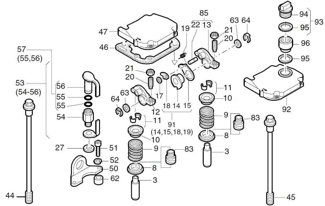 HATZ 1D81 miska górna sprężyny zaworu 04005401 MGS