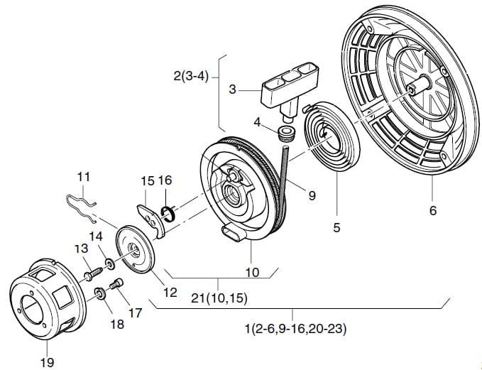 HATZ 1B20 1B30 1B40 koło startera 01548800 MGS-Technics