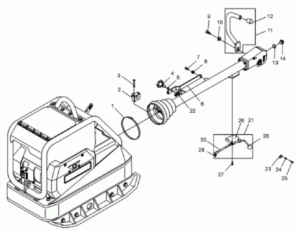 WACKER DPU linka gazu z manetką 0103538 MGS-Technics
