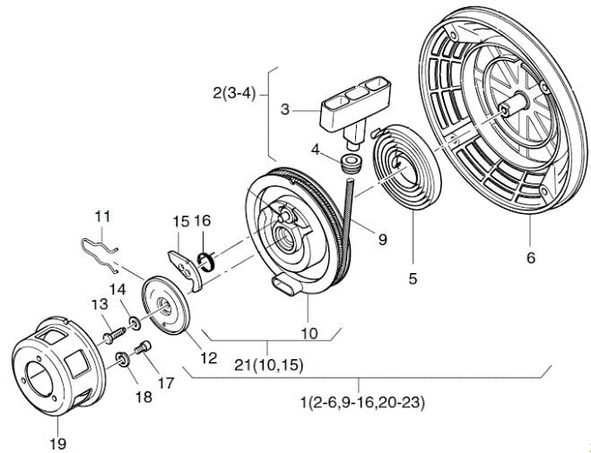 HATZ 1B20 1B30 1B40 podkładka śruby startera 50390701 MGS