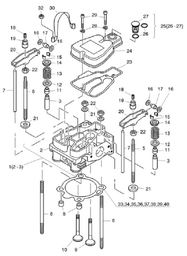 HATZ 1B30 1B40 podkładka szpilki głowicy 05099300 MGS