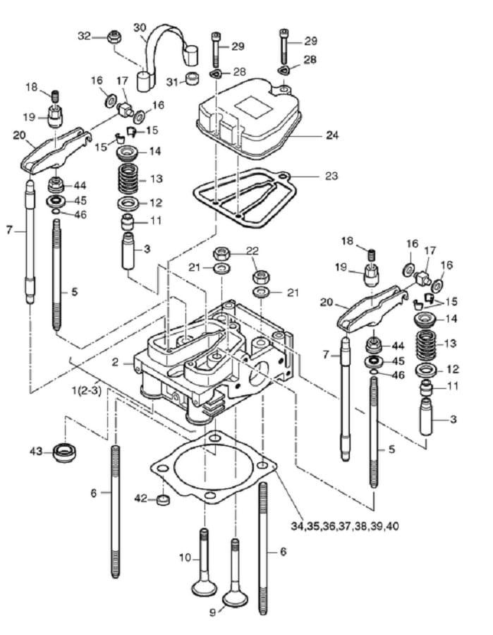 HATZ 1B40 1B50 zawór ssący 05145101 MGS-Technics